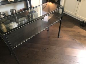 Glass Console table with metal frame for Sale in Washington, DC