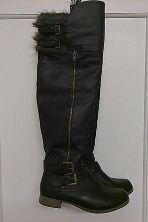 Knee high Black fur boots for Sale in Philadelphia, PA