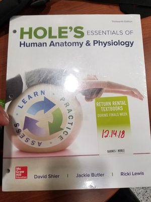 Hole's Essentials of human anatomy and physiology for Sale in Pasadena, TX