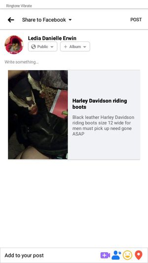 Harley Davidson riding boots for Sale in Greenbrier, AR