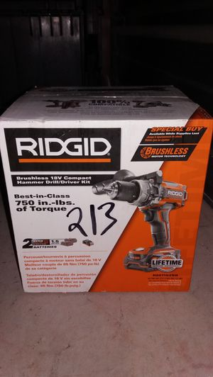 Brand new ridgid hammer drill brushless 2battery And charger lncluded for Sale in Austin, TX