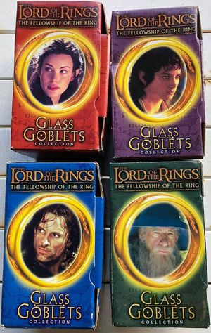 Complete Set Of Lord Of The Rings Collectible Goblets - MIB for Sale in Wilmington, NC