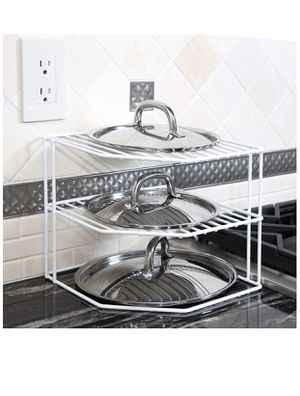 Smart Design 3-Tier Kitchen Corner Shelf Rack - Steel Metal Wire - Rust Resistant - Plates, Dishes, Cabinet & Pantry Organizer - Kitchen Organization for Sale in Las Vegas, NV