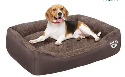 FAREYY Dog Beds for Dogs ,Soft Blaster Dog Bed with Washable Removable Cover,Dog Sofa Couch Pet Bed with Nonslip Bottom Waterproof Oxford Cloth