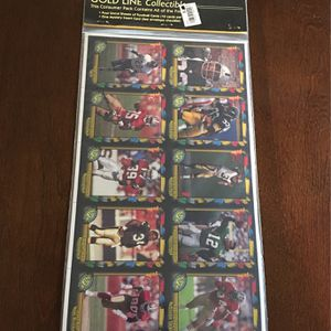 1991 Gold Line Collectibles 4 Uncut Sheets Plus Bonus Card Emmitt Smith.. Jerry Rice for Sale in Fresno, CA