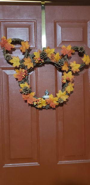 Fall mickey holiday wreath for Sale in Phoenix, AZ