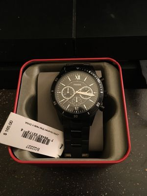 Black Fossil Watch for Sale in Montgomery, IL