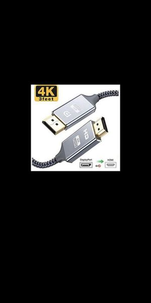 New Capshi DisplayPort to HDMI Cable, 3 ft for Sale in Norco, CA