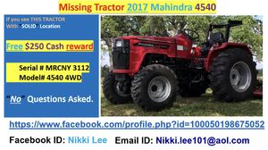 Cash reward $250 (Stolen tractor) for Sale in Zephyrhills, FL
