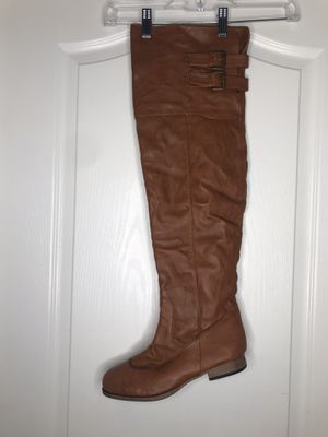 Camel tan thigh-high boots. Size: 9 for Sale in Forest Heights, MD