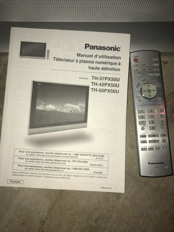Panasonic High Definition Plasma Tv
