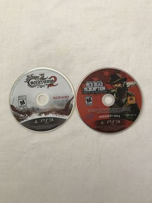 """Ps3 Games: Castlevania 2 & Red Dead Redemption """"Game Of The Year Edition"""" Discs Like New $5 Each Game for Sale in Reedley, CA"""