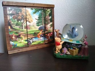 Winnie the Pooh Snow Globe & Art Decor for Sale in Seattle, WA