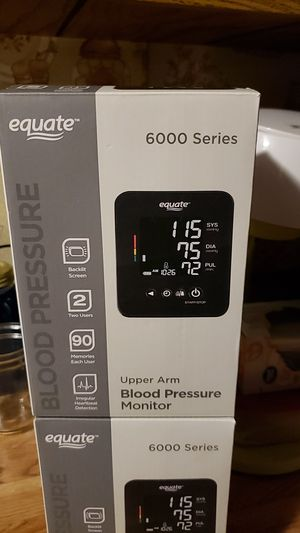Equate 6000 SERIES Upper Arm Blood Pressure Monitor for Sale in Ravenswood, WV