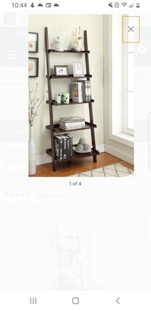 5-Shelf Ladder Bookcase, Multiple Finish for Sale in Houston, TX