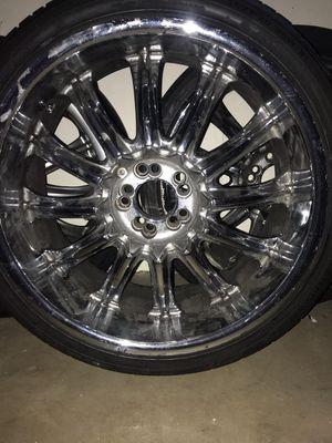 "20"" rims 5 lug Universal 5 1/8 4 3/4 lanvigator tires 245/35ZR20 95 W XL for Sale in Denver, CO"