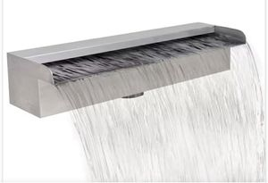 """New in its box Rectangular Waterfall Pool Fountain Stainless Steel 17.7"""" for Sale in Bakersfield, CA"""