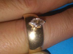 Marqui 14K Gold Wedding Ring .25 Carat for Sale in Winnie, TX
