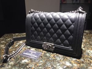New Chanel Black Caviar MEDIUM Boy Bag for Sale in Pepper Pike, OH