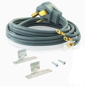 3-Prong Gray Dryer Appliance Power Cord for Sale in San Antonio, TX