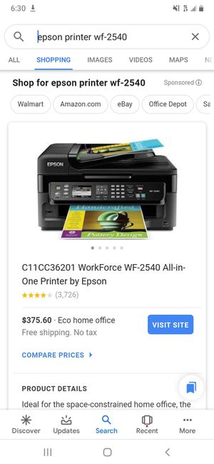 EPSON WF-2540 Printer for Sale in Lancaster, PA