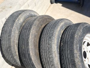 Use Tires. An rims asking $120 for trailer tires an rims ther the 5 on 5 bolt pattern or best offer for Sale in Phoenix, AZ