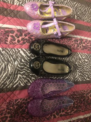 girl shoes Rapunzel heals Michael kors like new for Sale in Hayward, CA