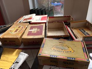 Old cigar boxes 50 s and 60s for Sale in Gulfport, MS