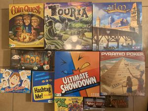 $20 FOR 11 BRAND NEW SEALED BOARD GAMES THATS LESS THEN $2 PER GAME for Sale in Paramount, CA
