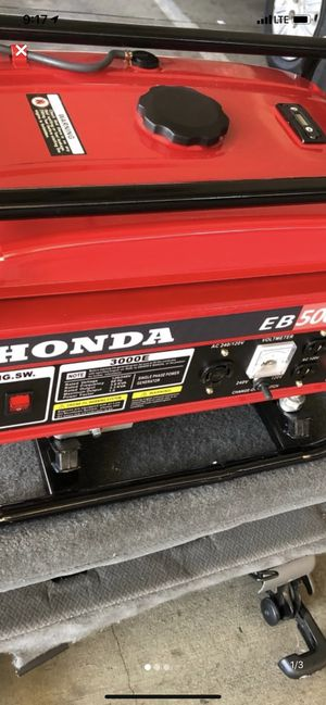 Honda 5000 generator for Sale in Santa Clarita, CA