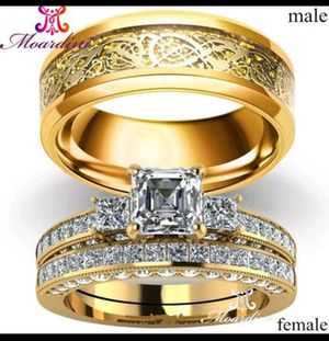 Men and Womens Yellow Gold filled Rings. for Sale in Denver, CO