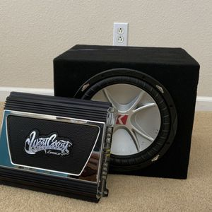 Subwoofer and West Coast Car Amplifier for Sale in San Jose, CA