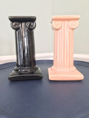 Vintage McCoy Limited Pottery Column Candleholders for Sale in Ashburn, VA