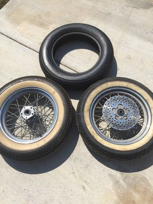 """Harley rear or front rims 16"""" and tires for Sale in Murfreesboro, TN"""