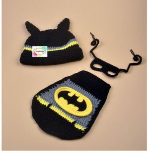 Newborn Crochet Batman Costume for Sale in Alexandria, VA