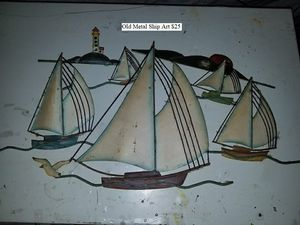 Old Metal Ship Art $25 for Sale in Dresden, OH