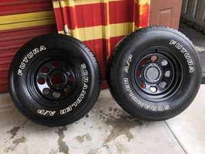 two used tires with rims 265/75R16 for Sale in Gibsonton, FL