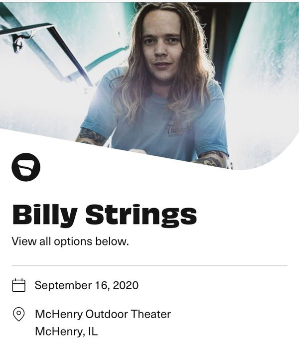Billy Strings Live at the Drive Inn Concert Tickets!🔥