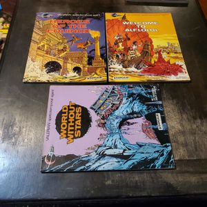 Valerian Spatiotemporal Agent Heroes Of The Equinox, Welcome To Alflolol, And World Without Stars, Dargaud Graphic Novel for Sale in Fresno, CA