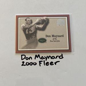 Don Maynard New York Jets Hall of Fame WR 2000 Fleer Base Card. for Sale in San Jose, CA