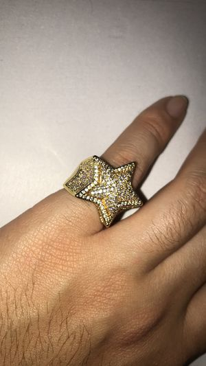 14k Gold Plated Bling Pinky Star Ring for Sale in Glendale, CA