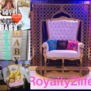 Event Planning Royal Chairs and Letters for Sale in Plainfield, NJ