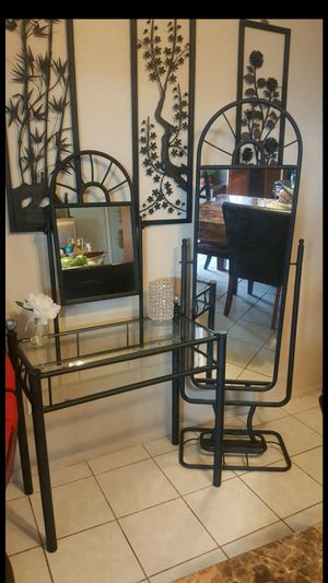 Vanity with tall standing mirror for Sale in Glendale, AZ