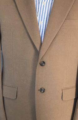 Ralph Lauren Chaps Beige Tan Blazer Sport Coat 100% Camel Hair Jacket 38R for Sale in Austell,  GA