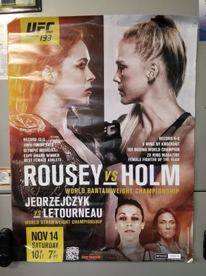 MMA Fight Poster Rousey vs Holm for Sale in Lake Worth, FL