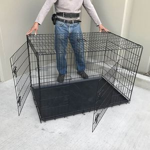 Brand new in box 42x28x30 Inches 2 Doors Pet Cage Dog Kennel Crate Foldable Portable Fold and Store Away for Sale in Los Angeles, CA