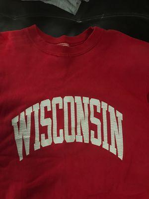 Wisconsin Badgers sweatshirt XL old school well worn for Sale in Casselberry, FL