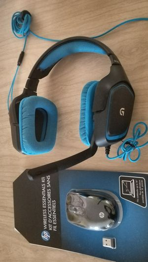 Gaming Headset with wireless mouse for Sale in Manassas Park, VA
