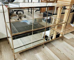 NEW 3 Tier Mirror Glass Console Table: njft livingrm for Sale in Burlington, NJ