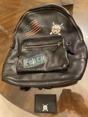 Coach west men's backpack with patches nwt with Card holder for Sale in San Diego, CA